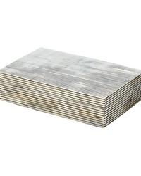 Pin Stripe Bone Box - Sm  by
