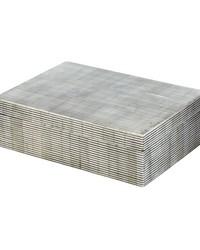 Pin Stripe Bone Box - Lg by