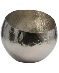 Hammered Nickel-Plated Brass Dish - Sm by