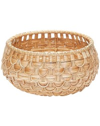 Small Natural Fish Scale Basket  by