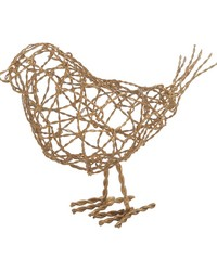 Brass Scribble Bird - Lg by