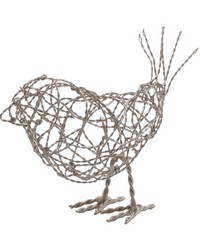 Nickel Scribble Bird - Lg by