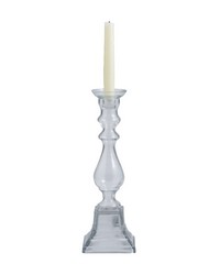 Clear Glass Knight Pillar Holder - Md  by