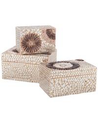 Large Capiz Shell Urchin Box by