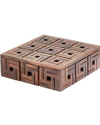 Chocolate Teak Patterned Box - Sm by