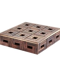 Chocolate Teak Patterned Box - Lg by