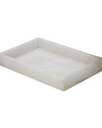 White Alabaster Vanity Tray  by