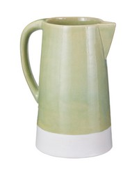 Spring Crackle Pitcher by