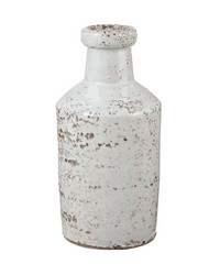 Rustic White Milk Bottle by
