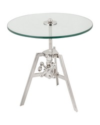 Nickle Tripod Side Table by