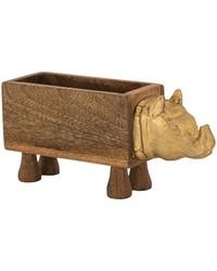 German Silver Rhino Box by
