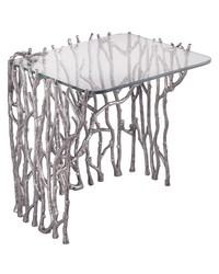 Silvered Sticks Side Table by