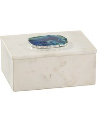 Marble and Blue Agate Box by