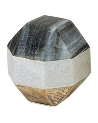 Marble and Wood Dodecahedron by