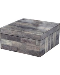 Gray And White Bone Boxes - Lg  by