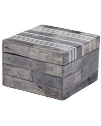 Gray And White Bone Boxes - Sm  by