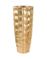 Small Gold Wave Vessel by