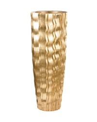 Large Gold Wave Vessel by