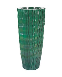 Small Green Wave Vessel by