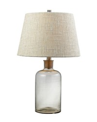 Clear Glass Bottle Table Lamp With Cork Neck by