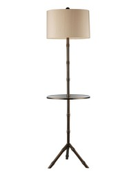 Stanton Floor Lamp In Dunbrook Finish With Glass Tray by