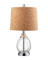 Clear Glass Table Lamp in Polished Chrome by