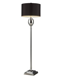 Waverly Floor Lamp In Chrome Plated Glass With Milano Black Shade by