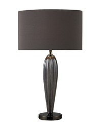Carmichael Table Lamp In Steel Smoked Glass And Black Nickel by