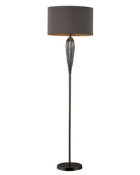 Carmichael Floor Lamp In Steel Smoked Glass And Black Nickel by
