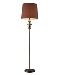 Dravos Glass Floor Lamp in Bronze and Coffee Plating by