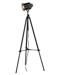 Ethan Adjustable Tripod Floor Lamp in Restoration Black by