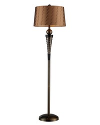 Laurie Floor Lamp In Dunbrook Finish With Bronze Tone-on-Tone Shade by