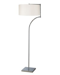 Lancaster Floor Lamp In Chrome With Milano Pure White Shade by
