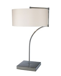 Lancaster Table Lamp In Chrome With Milano Pure White Shade by