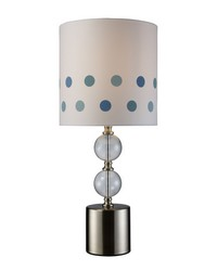 Fairfield Table Lamp In Chrome And Clear Glass by