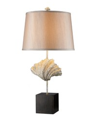 Edgewater Table Lamp In Oyster Shell And Dark Bronze by