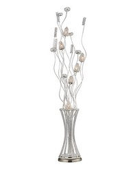 Cyprus Grove Floor Lamp In Satin Nickel by