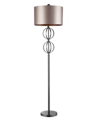 Danforth Floor Lamp In Coffee Plating With Champagne Shade by
