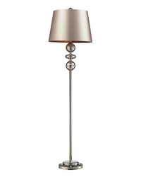 Hollis Floor Lamp In Antique Mercury Glass And Polished Nickel by