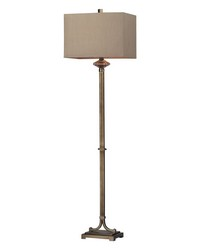 Lakemere Amber Antique Mercury Glass Floor Lamp in Antique Gold by