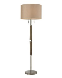 Jorgensen Wood Floor Lamp in Polished Nickel by
