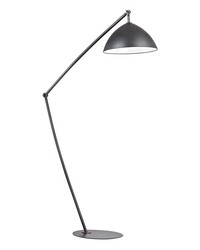 Industrial Elements Adjustable Floor Lamp in Matte Black by