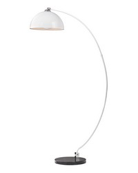 Cityscape Adjustable Floor Lamp in White And Black by