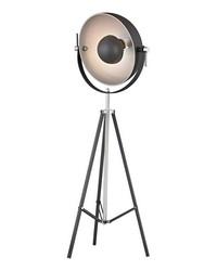 Backstage Adjustable Floor Lamp in Matte Black and Polished Nickel by