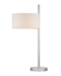 Attwood Table Lamp in Polished Nickel by