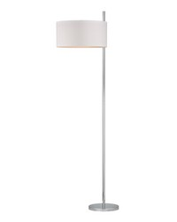 Attwood Floor Lamp in Polished Nickel by