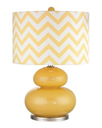 Tavistock Table Lamp In Sunshine Yellow And Polished Nickel by