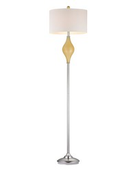Chester Glass Floor Lamp in Sunshine Yellow by