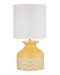 Carnforth Ceramic Table Lamp In Sunshine Yellow by