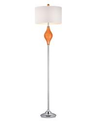 Chester Glass Floor Lamp in Tangerine Orange by